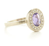 Lux Plus Oval Purple Sapphire Ring