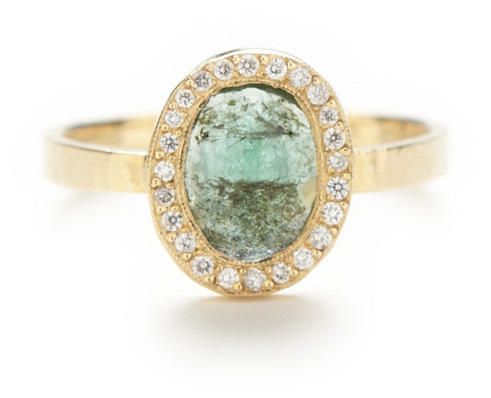 Lux Oval Emerald Ring