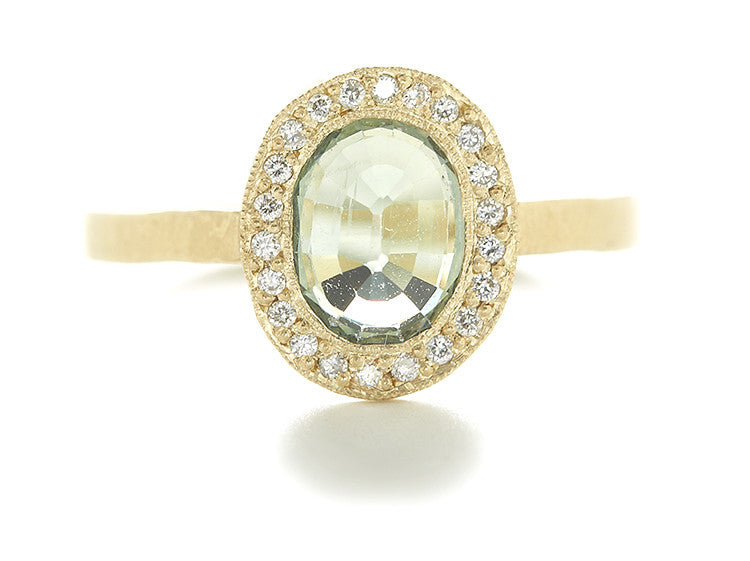 Lux Oval Green Sapphire Ring