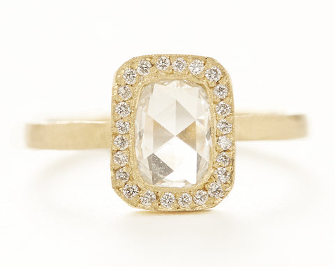 Lux Plus Cushion White Diamond Ring