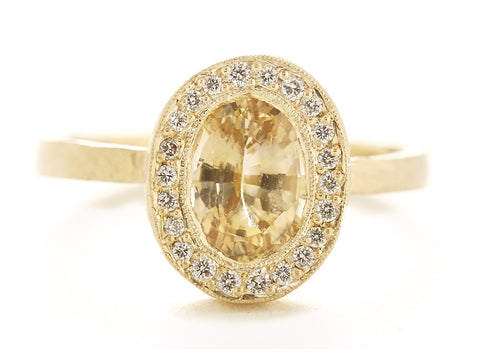 Lux Plus Oval Yellow Sapphire Ring