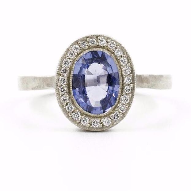 Lux Plus Oval Blue Sapphire Ring