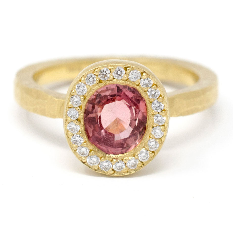 Lux Plus Oval Pink Sapphire Ring