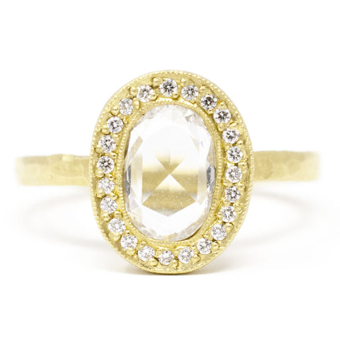 Lux Plus Oval Rose Cut Diamond Ring