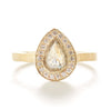Lux Pear Opaque Diamond Ring