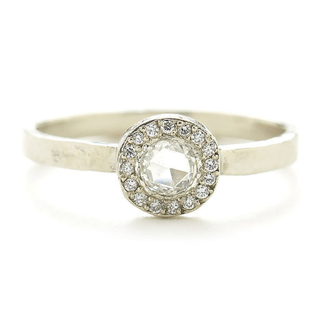 Lux Round Small White Diamond Ring