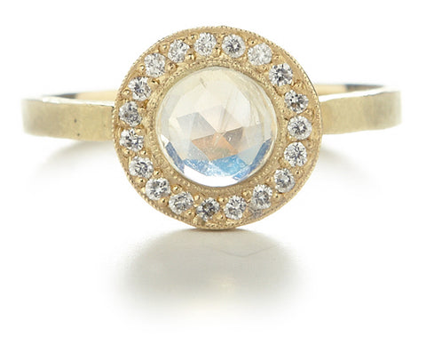Lux Round Moonstone Ring