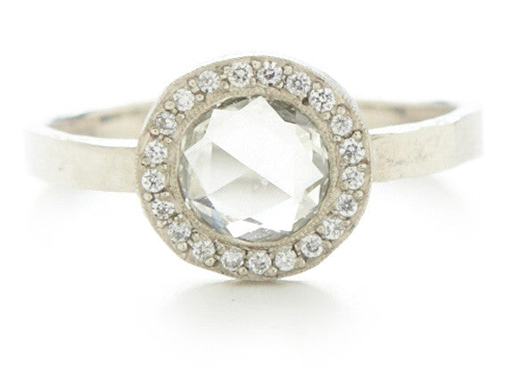 Lux Round White Diamond Ring
