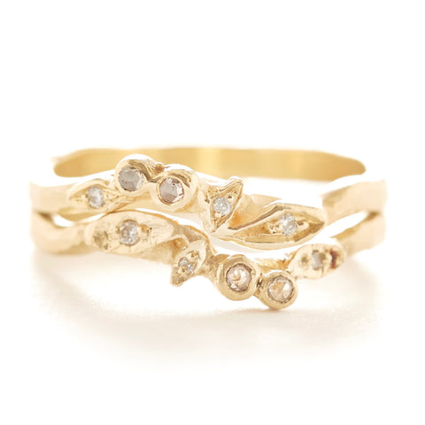 Vine Diamond Stacking Bouquet Ring