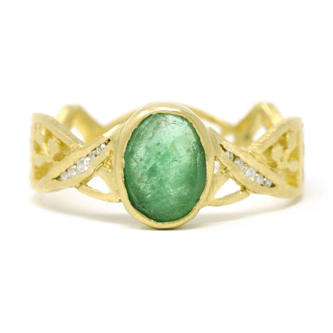 Relic Golden Gate Emerald Ring