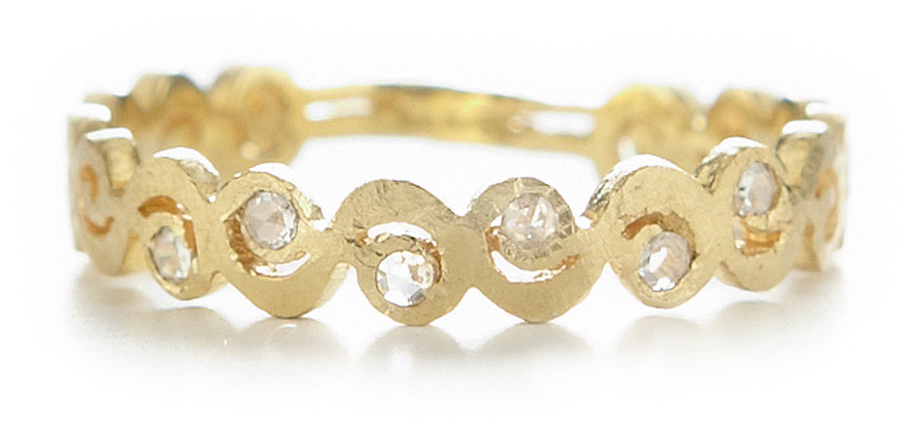 Relic Swirl Diamond Band