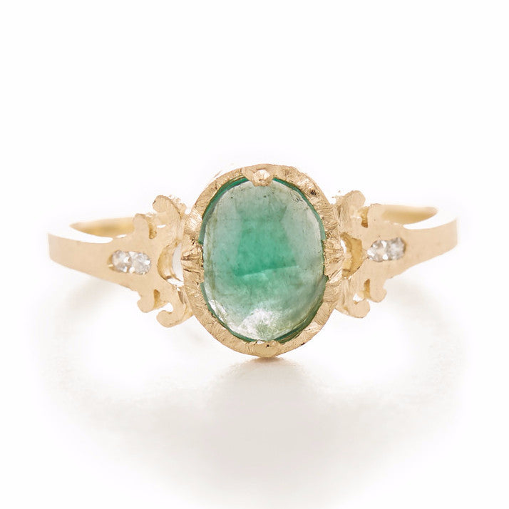 Relic Victorian Emerald Ring