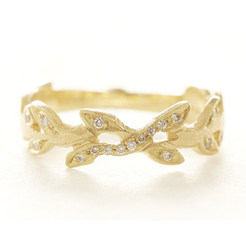 Relic Vine Diamond Band