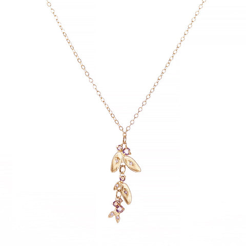 Vine Dangle Leaf Necklace