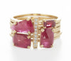 Stacking Ruby Asymmetrical Ring