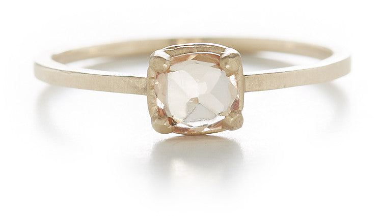 Stacking Cushion Imperial Topaz Ring