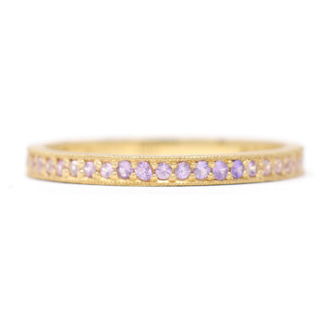 Stacking Unicorn Ombre Pave Diamond Band