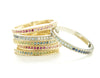 Stacking Rainbow Ombre Pave Diamond Band