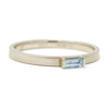 Stacking Baguette Horizontal Aquamarine Ring
