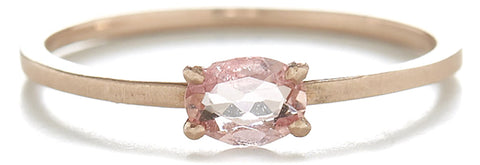 Stacking Oval Imperial Topaz Horizontal Ring