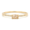 Stacking Oval Opaque Horizontal Diamond Ring