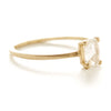 Stacking Oval Medium Diamond Ring