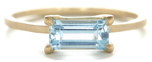 Stacking Aquamarine Ring