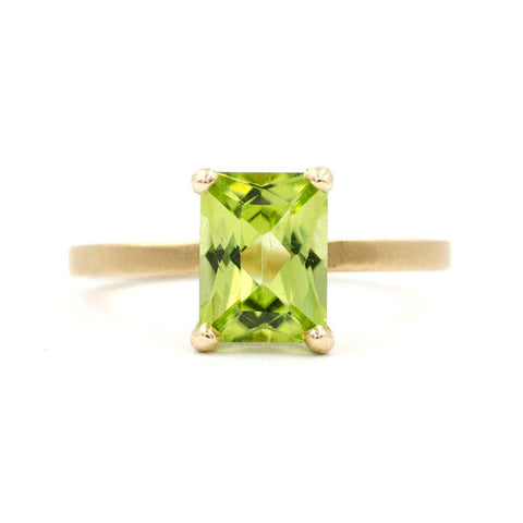Stacking Peridot Ring