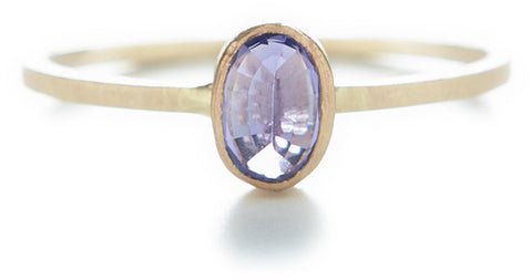 Stacking Oval Lavender Sapphire Ring