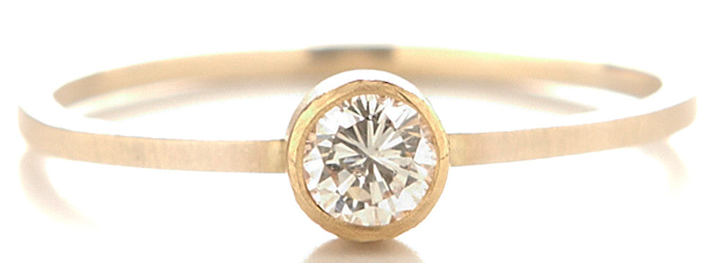 Stacking Round Delicate Diamond Ring