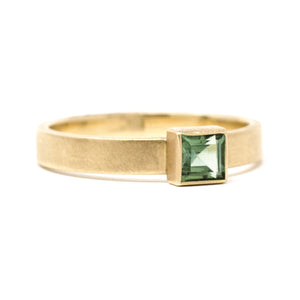 Stacking Square Tourmaline Ring