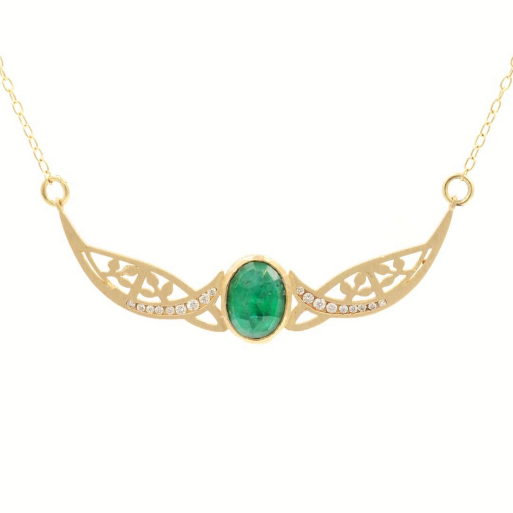 Relic Golden Gate Emerald Necklace