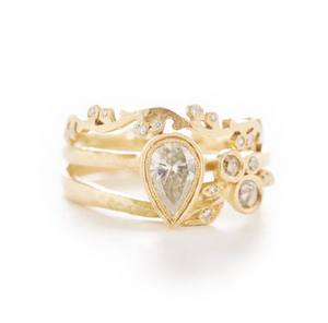 To the Point Pear Diamond Ring