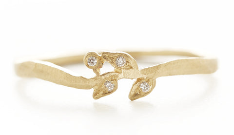 Vine Diamond Petal Ring