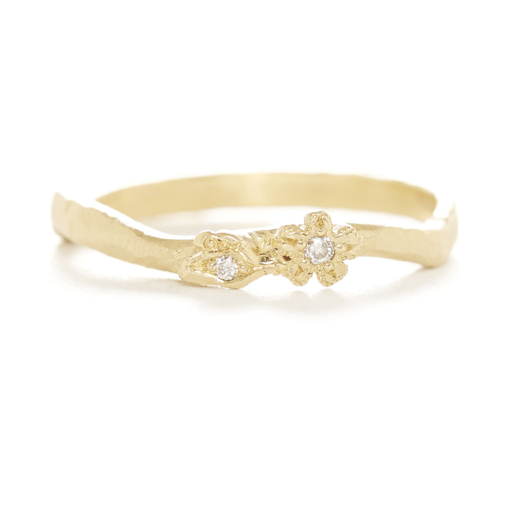 Vine Diamond Flower Ring
