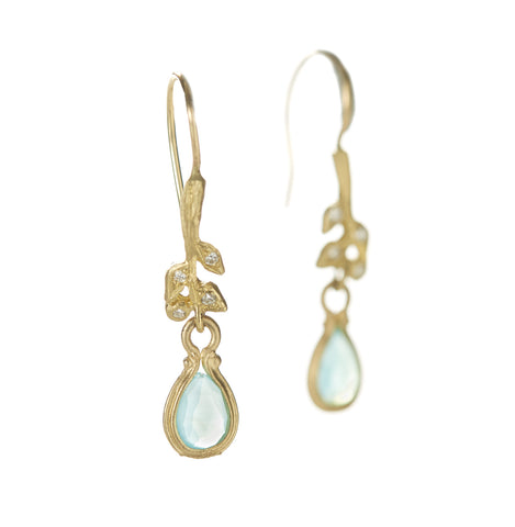 Vine Stem Peruvian Opal Earrings