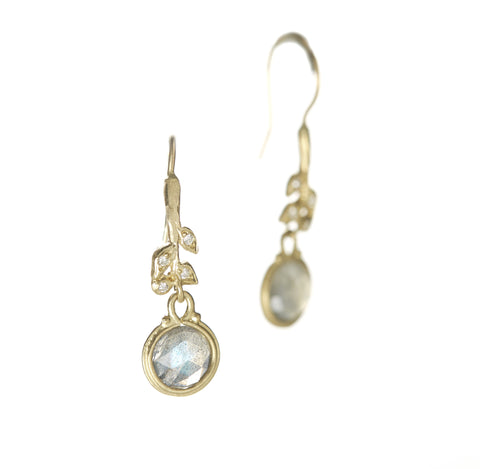 Vine Stem Labradorite Earrings