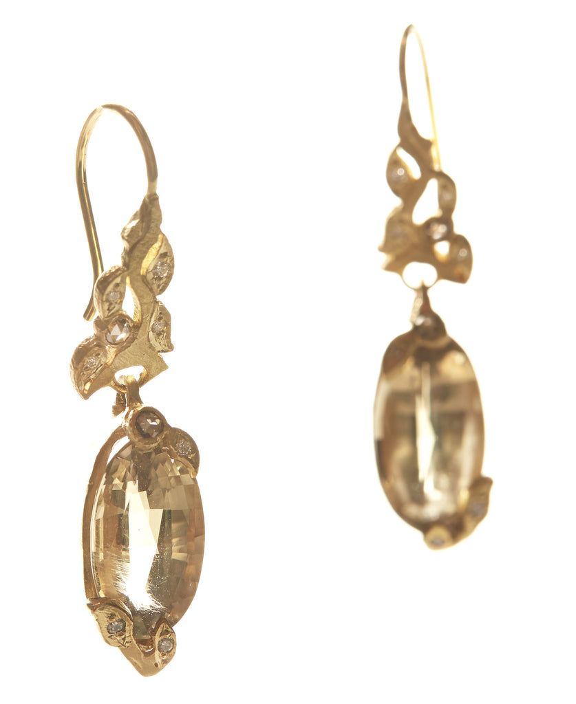 Vine Csarite Drop Earrings