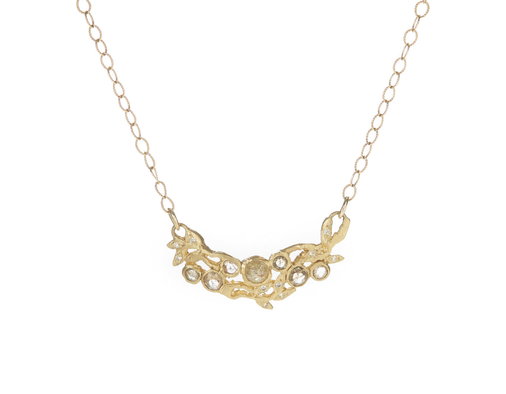 Vine Cluster Champagne Diamond Necklace