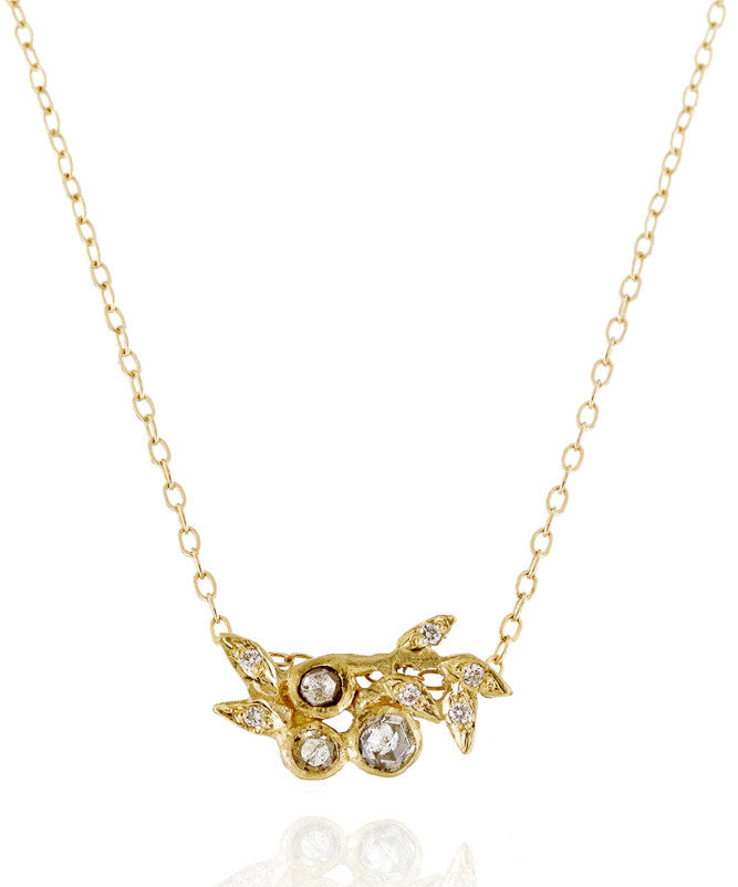 Vine Medium Champagne Diamond Necklace