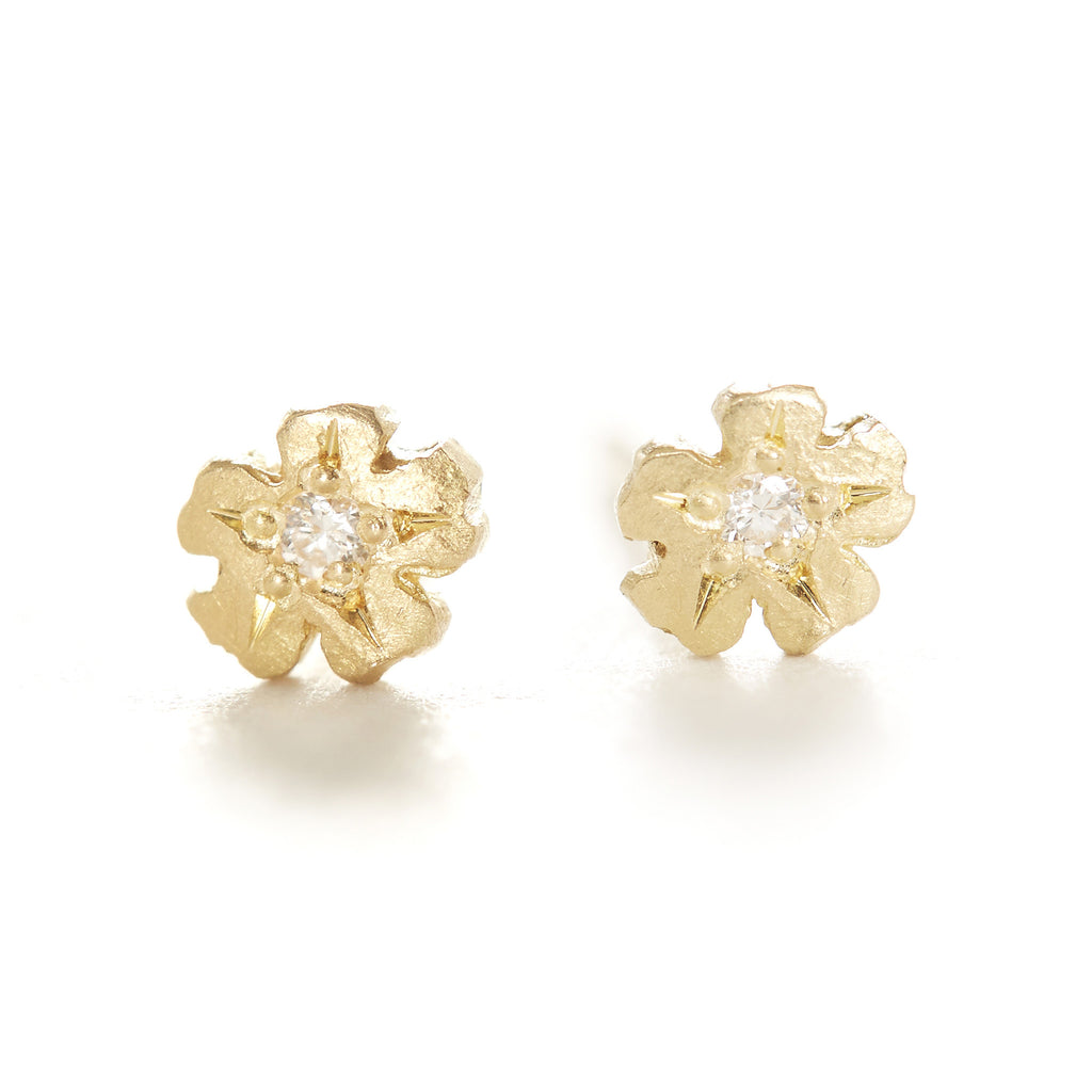 Vine Flower Stud Earrings