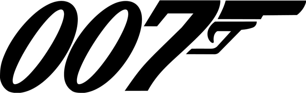 James Bond - 007 - decal - Car and Laptop Window Decal Sticker - 1