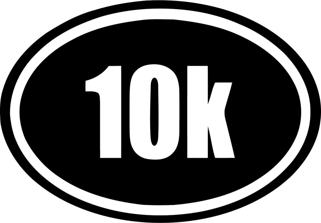 10k  Car Window Running  Euro Marathon Race Oval Half - Vinyl Car Window and Laptop Decal Sticker - Decal - Car and Laptop Window Decal Sticker - 1