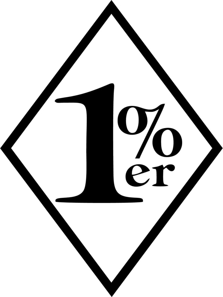 1%er Biker - Vinyl Car Window and Laptop Decal Sticker - Decal - Car and Laptop Window Decal Sticker - 1