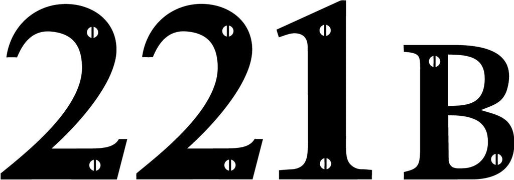 Sherlock - 221B Baker's Street House Number - Vinyl Car Window and Laptop Decal Sticker - Decal - Car and Laptop Window Decal Sticker - 1