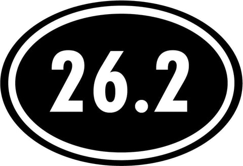 26.2 Marathon Running Euro Race - Vinyl Car Window and Laptop Decal Sticker