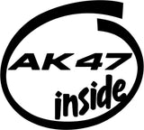 AK47 Inside Vinyl Car Window Laptop Decal Sticker