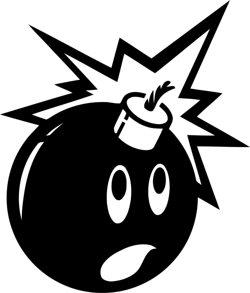 Adam and the hundreds Bomb Vinyl Car Window Laptop Decal Sticker