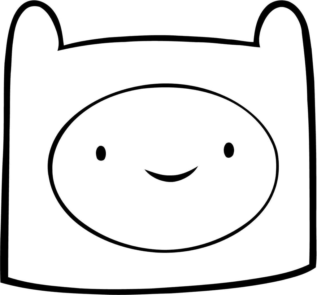 Adventure Time - Finn Head - Vinyl Car Window and Laptop Decal Sticker - Decal - Car and Laptop Window Decal Sticker - 1
