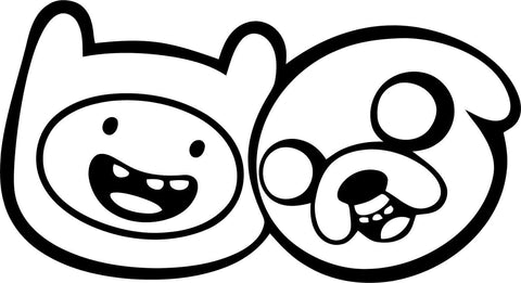 Adventure Time - Finn and Jake - Vinyl Car Window and Laptop Decal Sticker